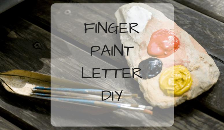 Finger Paint Letter DIY