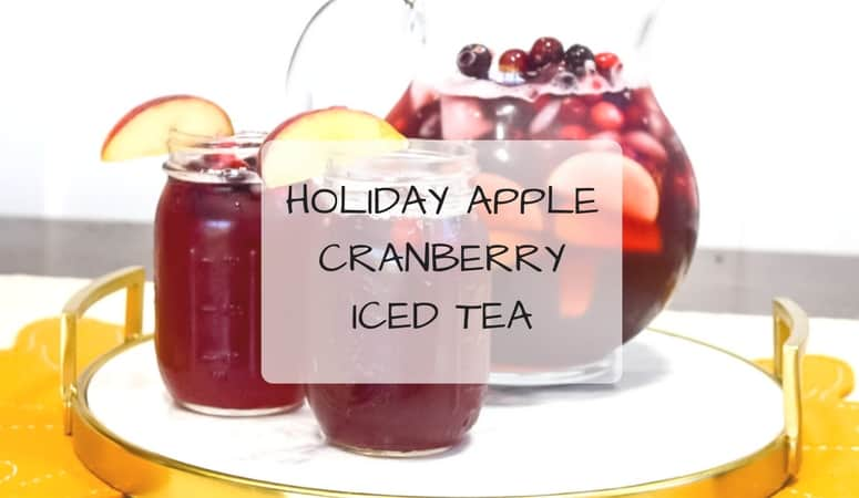 Holiday Apple Cranberry Iced Tea
