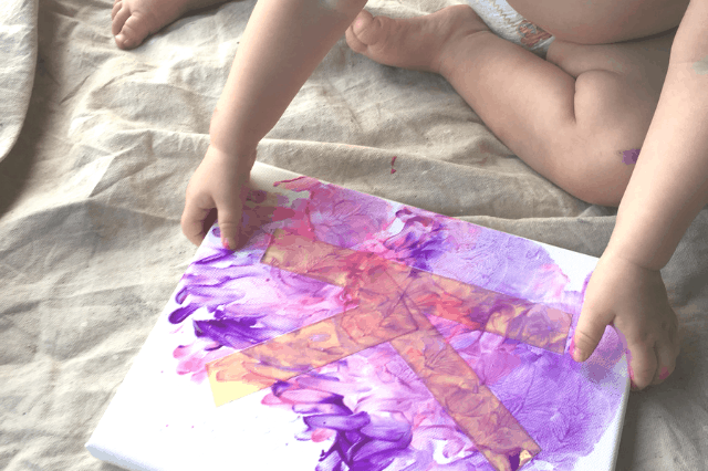 Toddler Finger Painting Letters DIY