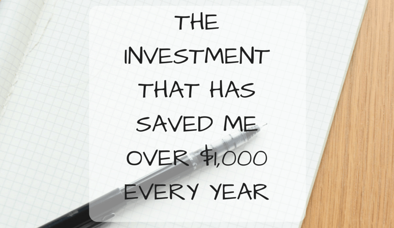 The Investment That Has Saved Me Over $1k A Year