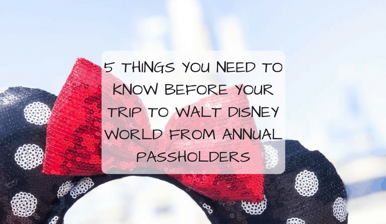 5 Things You Need To Know Before Your Trip To Walt Disney World From Annual Passholders