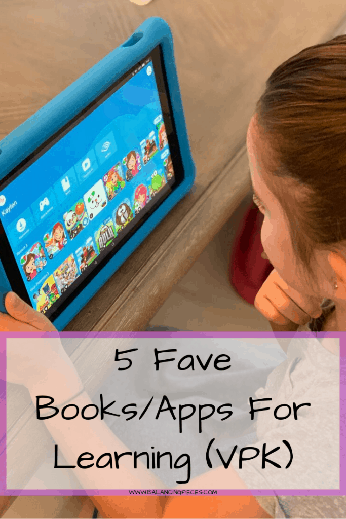 Back to School- 5 Fave Books/Apps For Learning (VPK)