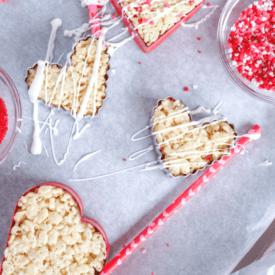 No Bake Rice Krispie Hearts