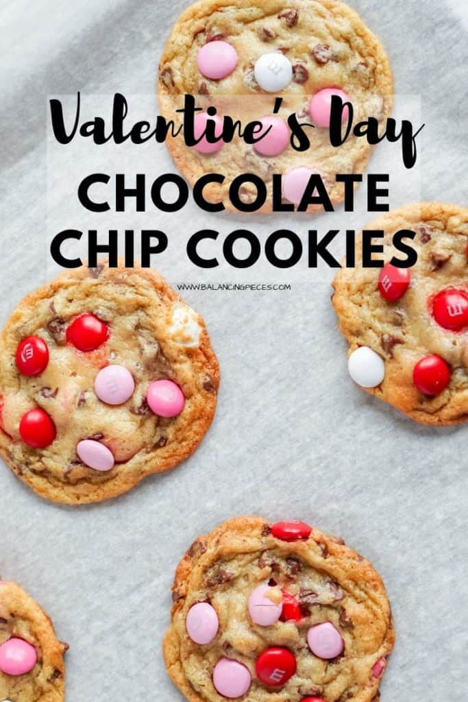 Valentine's Day Chocolate Chip Cookies- Balancing Pieces
