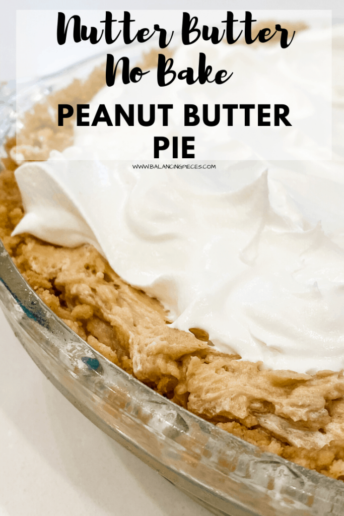 Nutter Butter No Bake Peanut Butter Pie
