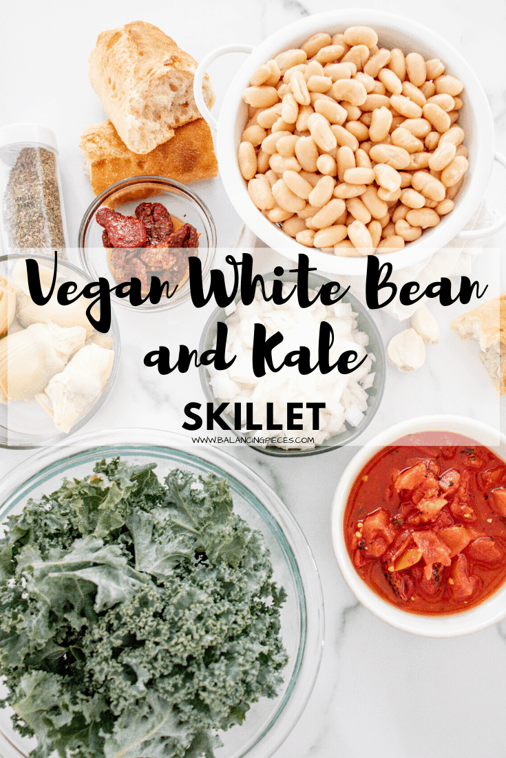 Vegan White Bean and Kale Skillet